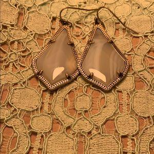 White stone Kendra Scott earrings